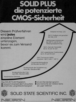 Neutron Mikroelektronik Historie CMOS Sicherheit